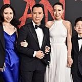 سيسي يانغ، ودوني، وياسمين، وجيمس ين في العرض العالمي الأول لفيلم مولان في لوس أنجلوس