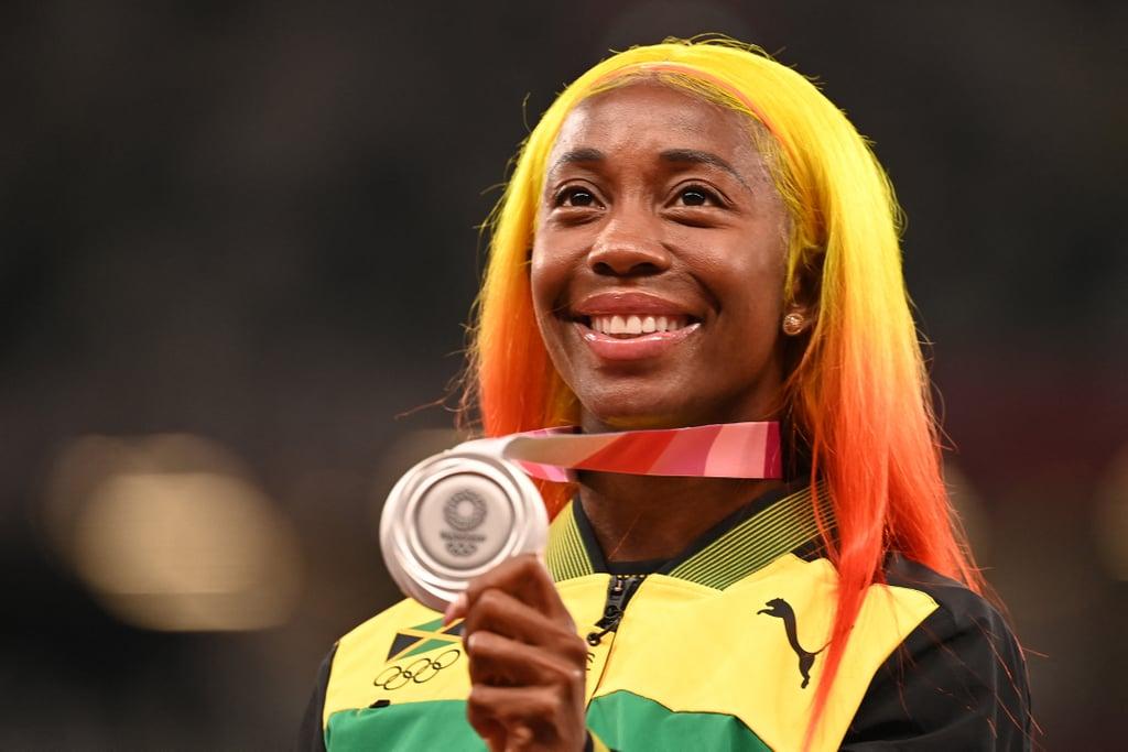 Shelly-Ann Fraser-Pryce's Yellow and Orange Hair