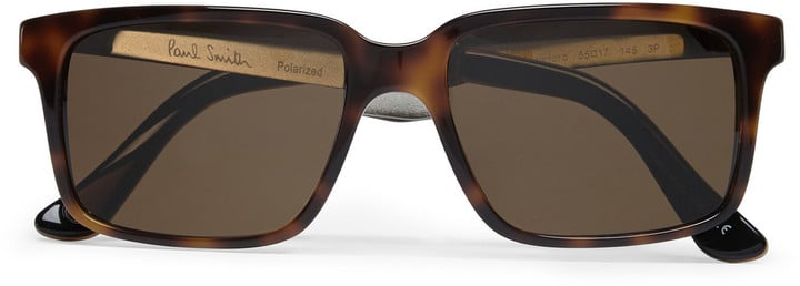 Paul Smith Shoes & Accessories Shawford Acetate and Metal Square-Frame Polarised Sunglasses (£240.00)