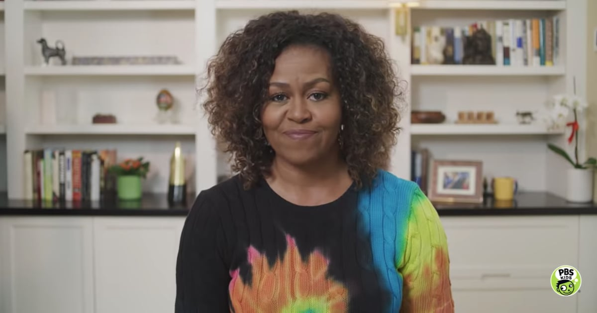 Michelle Obama's Affordable Tie-Dye Sweater Is Groovy as Heck