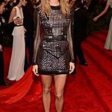 Stacy Keibler's studded Rachel Roy minidress was part futuristic, part punk.