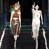 Belle and Mulan Walking the Balmain Spring '16 Runway