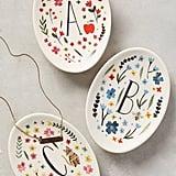 Amelia Herbertson Monogrammed Meadow Trinket Dish ($12)