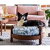 Vintage Marble Wood Frame Pet Bed