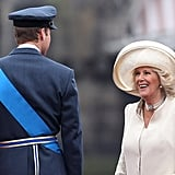 William and Camilla shared a joke during the Thames River pageant in London in June 2012.