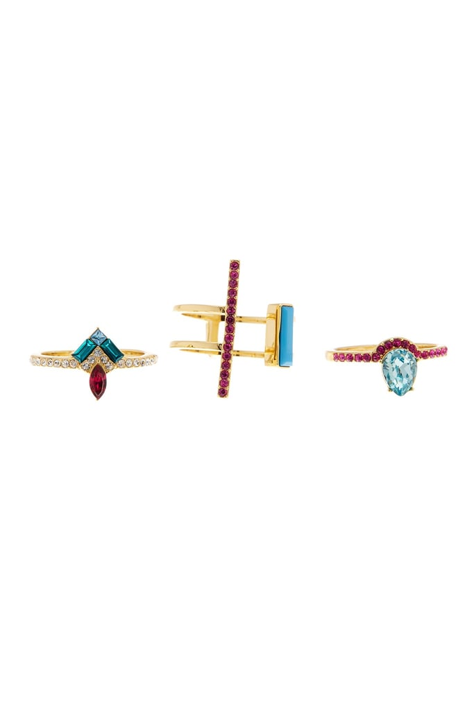 Stack your rings with a matching set like Covet's Multi-Stone Pack ($55)