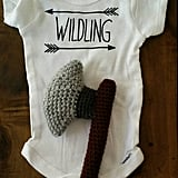 Wilding Onesie and Crocheted Rattle