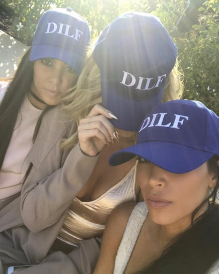 Kim, Khloé and Kourtney Kardashian Celebrate Thursday in Matching 'DILF' Hats