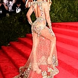 Beyoncé crushed the red carpet at the Met Gala in May 2015.