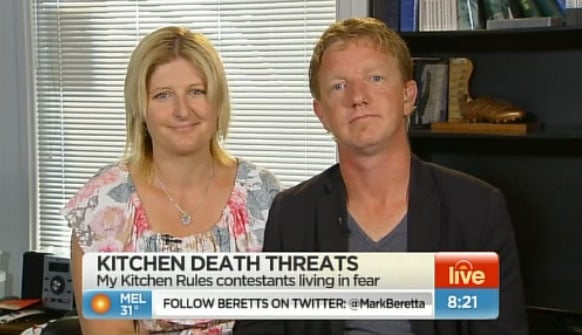 My Kitchen Rules Tasmanian Contestant Melanie Maddock Receives Death Threats