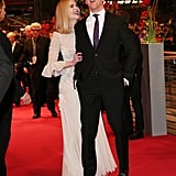 Nicole Kidman and Damian Lewis got silly while promoting Queen of the Desert at the 65th Berlin International Film Festival on Friday.