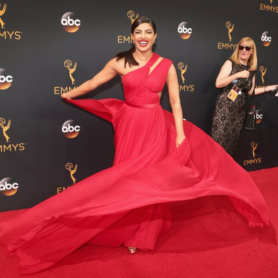 Priyanka Chopra's Red Dress at the Emmys 2016