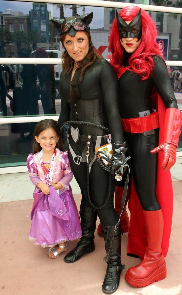 Rapunzel, Catwoman, and Batwoman