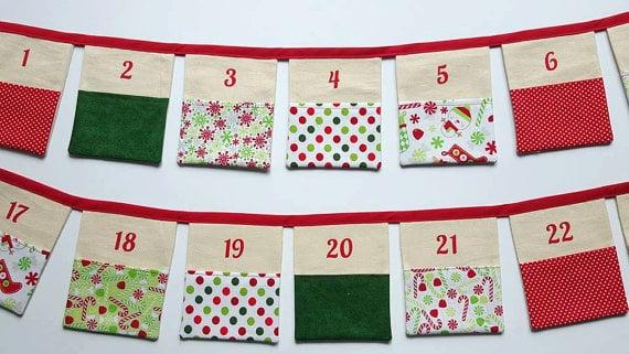 Buy: Fabric Bunting Advent Calendar