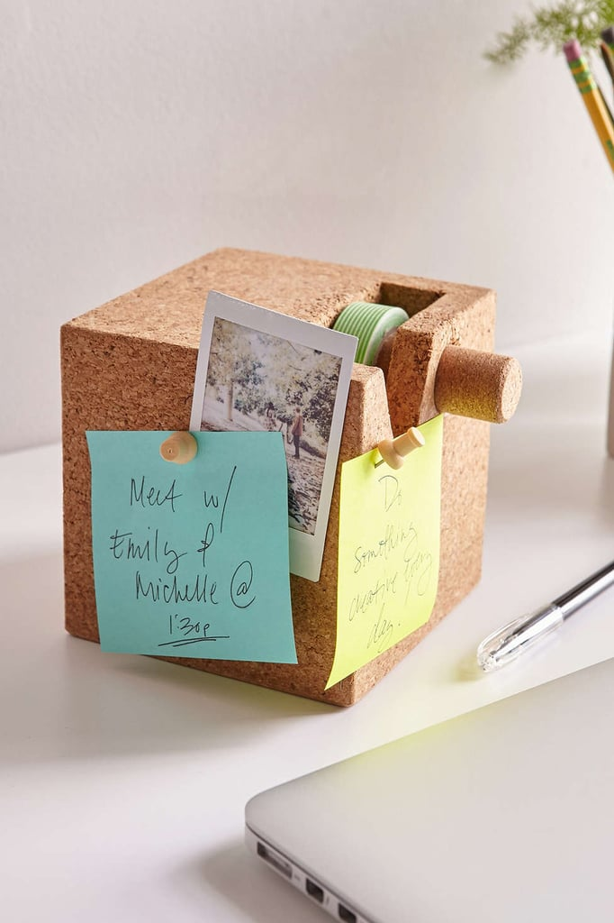 Cork Cube Tape Dispenser + Desk Organizer ($30)