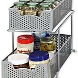 Simple Houseware 2 Tier Sliding Cabinet Basket Organiser Drawer