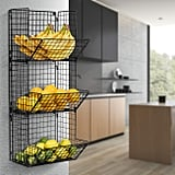 Sorbus 3-Tier Fruit Stand and Wall Mount Kitchen Storage Bin