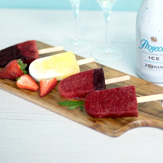 How to Make Prosecco Ice Blocks