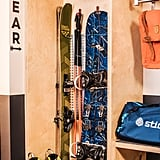 Adorable for sure, but it's the more utilitarian decor that's the true draw. Custom gear walls have specially shaped cubbies and movable hooks to hold skis, hiking poles and boots, snowboards, and backpacks (which MMM also has available for rent), thus eliminating long waits at the equipment valet or having to chance leaving them on or in the car. The minifridge is empty and oversize, so storing snacks and picnic fixings overnight can also save precious minutes in the morning. There are rooms with bunks for friend getaways and families. The door also has an illustrated guide to what not to forget when you head out to explore. Plus, whatever doughnuts don't sell in the cafe in the morning are put out as complimentary afternoon snacks.
