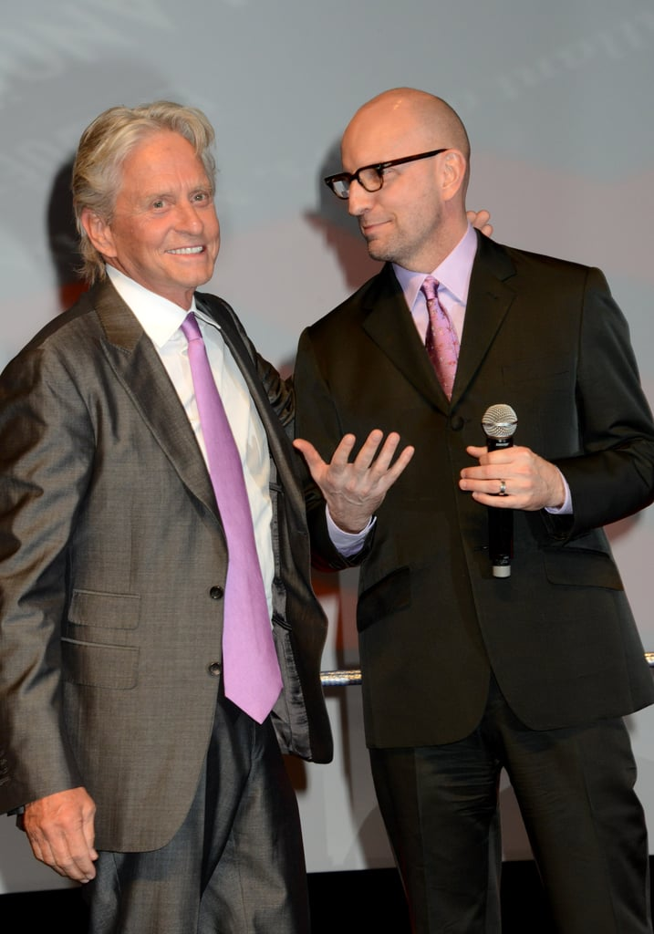 Michael Douglas and Steven Soderbergh took to the stage during the opening ceremony.