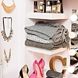Arrange fashion pieces in stylised vignettes.