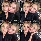 And Played Around Backstage With Karlie Kloss