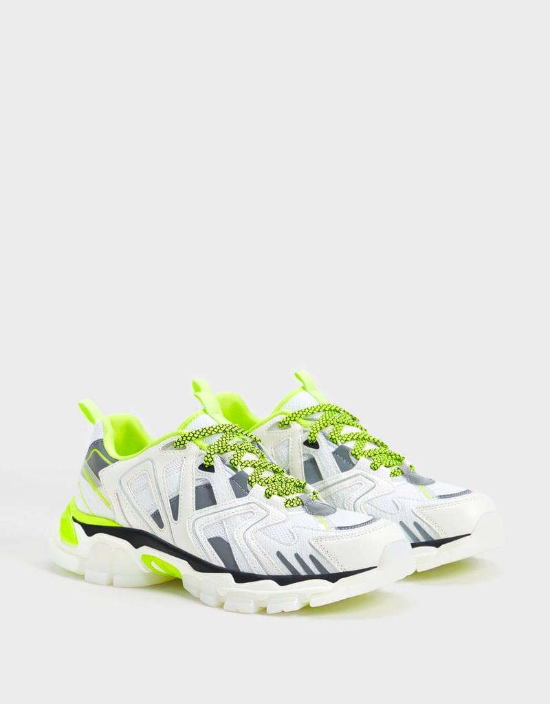 Bershka Multi-Piece Sneakers With Neon Details