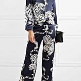 Olivia von Halle Lila Silk-Satin Pajama Set