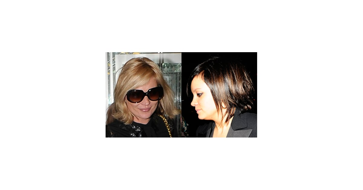 Photos of Kate Moss and Lily Allen. Whose New Choppy Short ...