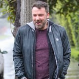 Ben Affleck Is Like an Excited Little Kid While Getting Caught in the Rain