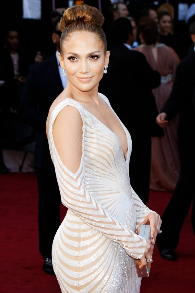 Jennifer Lopez White Dress Pictures | POPSUGAR Fashion UK