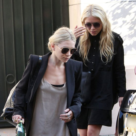 Mary-Kate and Ashley Olsen Leaving Hotel in Paris Pictures
