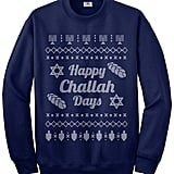 "Threadrock ""Happy Challah Days"" Ugly Sweater"