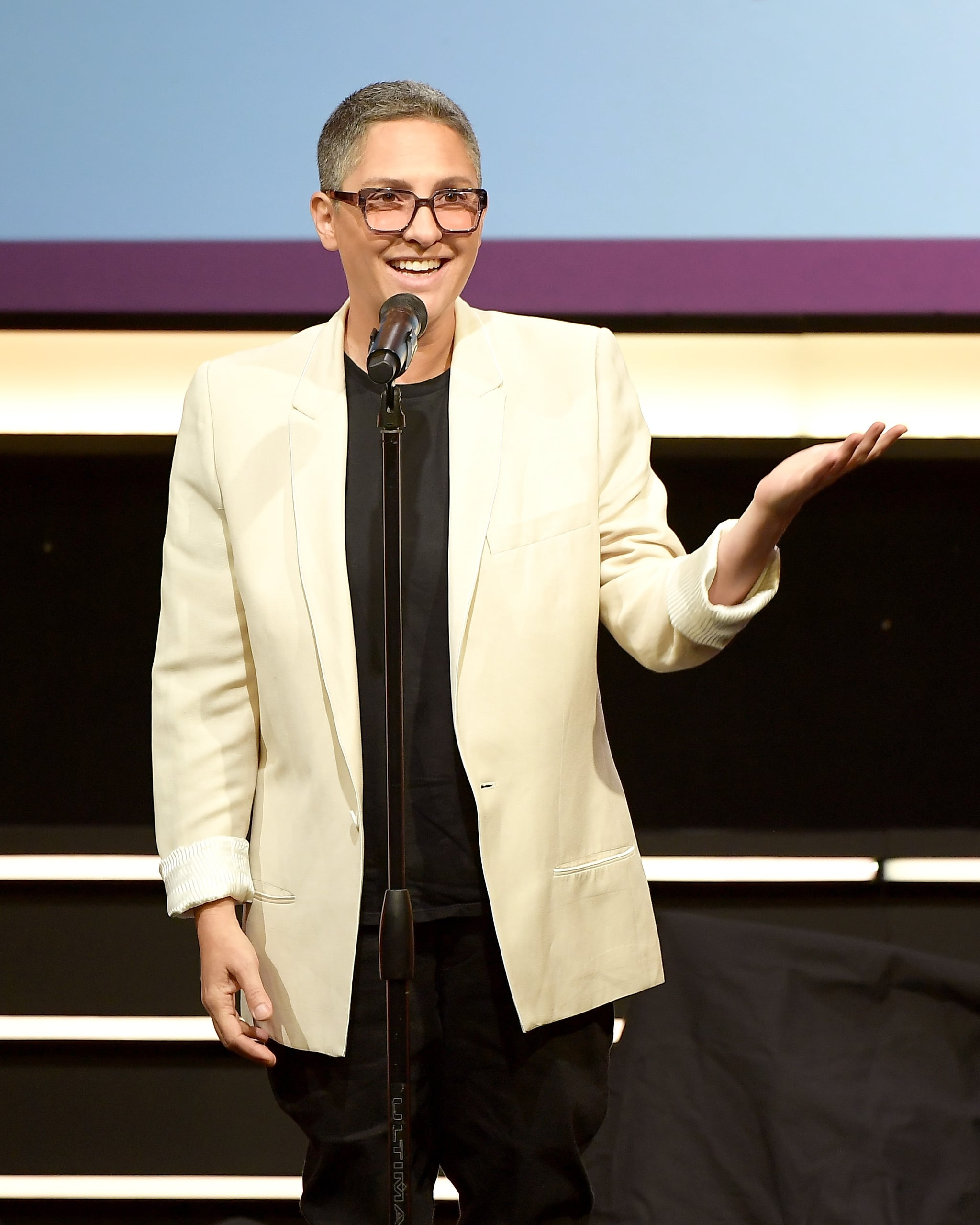 BEVERLY HILLS, CA - OCTOBER 07:  Honoree Jill Soloway accepts Point Impact Award onstage at Point Honors Los Angeles 2017, benefiting Point Foundation, at The Beverly Hilton Hotel on October 7, 2017 in Beverly Hills, California.  (Photo by Matt Winkelmeyer/Getty Images for Point Honors)
