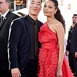 Pictured: Leonardo Nam and Thandie Newton
