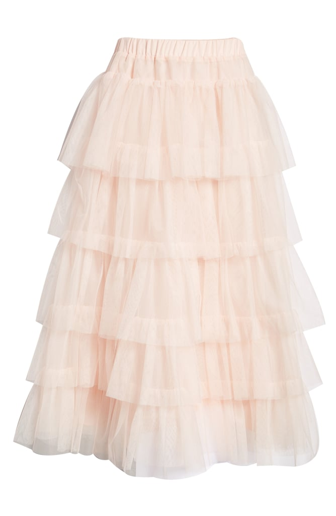 f35f02ca3 Tiered Tulle Midi Skirt | Halogen x Atlantic-Pacific Collection ...