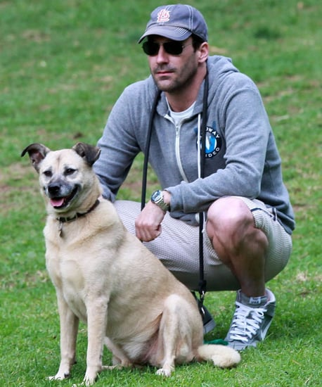 Pictures of Jon Hamm With Dog at Park in LA
