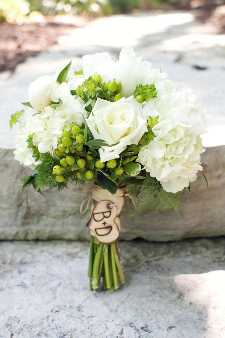 monogrammed alternative wedding bouquet pictures popsugar home photo 10. Black Bedroom Furniture Sets. Home Design Ideas