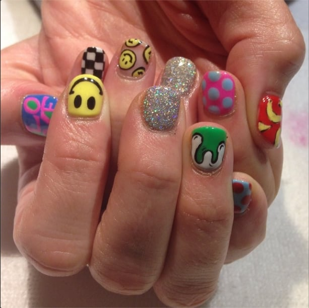 Mix And Match Pop Art Festival Season Nail Art Ideas From