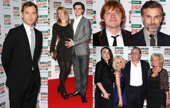 Photos of Jude Law, Aaron Johnson, Sam Taylor-Wood, Rupert Grint, Christoph Waltz at Empire Awards Plus Full List of Winners