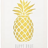 A happy home indeed. This pineapple makes us giddy. Personalized Pineapple Canvas Wall Art ($78)