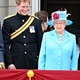 The pair then shared a laugh during Trooping the Colour in 2009.