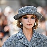 Every look was topped with a boater hat