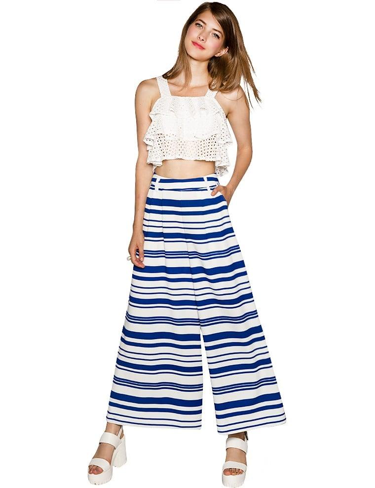 Pixie Market Striped Culottes