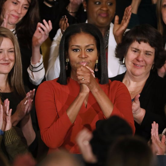 Michelle Obama Red Outfit For Final Speech as First Lady