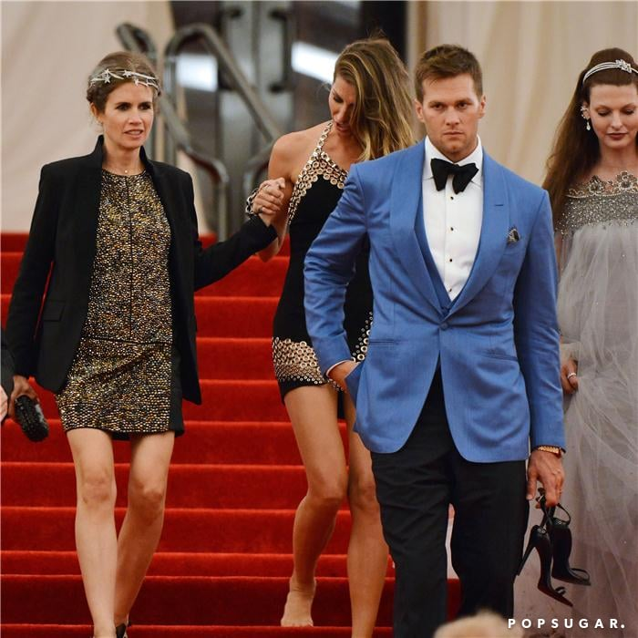 Tom Brady carried Gisele Bundchen's shoes as they left the Met Gala.