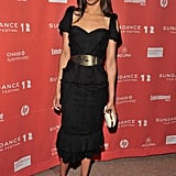 She chose a cool black shoulder cutout Alexander McQueen dress for The Words premiere at Sundance earlier this year.