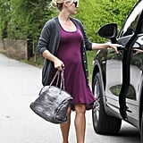 Reese Witherspoon had her hair back while running some errands.