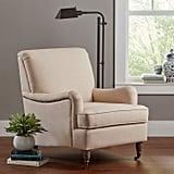 Ravenna Home English Rolled Arm Nailhead Trim Accent Chair