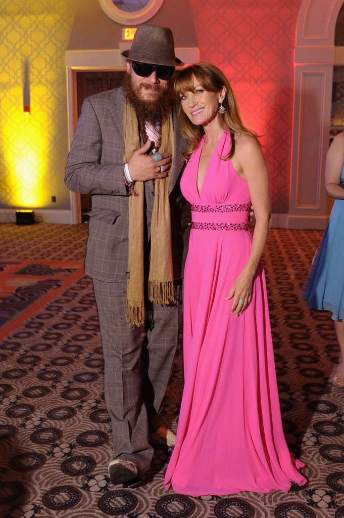 Jane Seymour and Nicholas David got together at the Unbridled Eve Gala on Friday.
